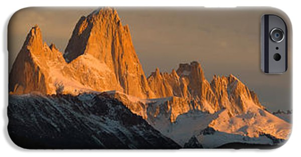 Mountain iPhone Cases - Mountains At Sunset, Mt Fitzroy, Cerro iPhone Case by Panoramic Images