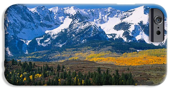 Mountain iPhone Cases - Mountains Covered In Snow, Sneffels iPhone Case by Panoramic Images