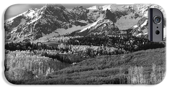 Fall iPhone Cases - Mountains Covered With Snow And Fall iPhone Case by Panoramic Images