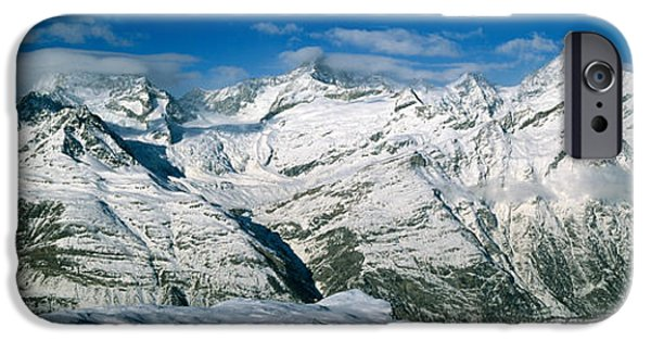 Mountain iPhone Cases - Mountains Covered With Snow iPhone Case by Panoramic Images