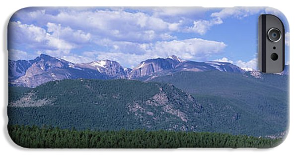 Meadow Photographs iPhone Cases - Mountains Fr Beaver Meadows Rocky Mt iPhone Case by Panoramic Images