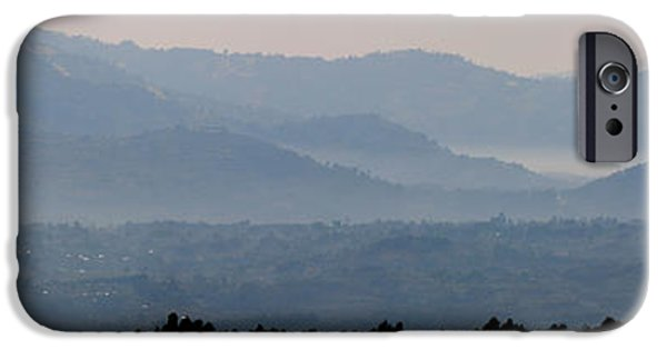 Mist iPhone Cases - Mountains In Mist At Dawn, Rwanda iPhone Case by Panoramic Images