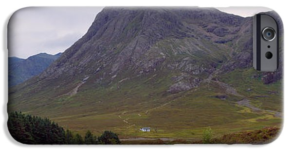 Mountain iPhone Cases - Mountains On A Landscape, Glencoe iPhone Case by Panoramic Images