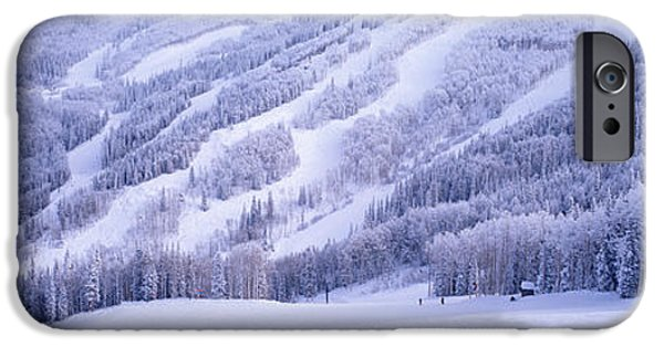 Northern Colorado iPhone Cases - Mountains, Snow, Steamboat Springs iPhone Case by Panoramic Images