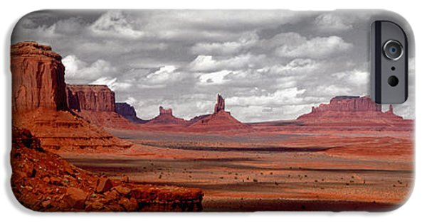 Red Rock iPhone Cases - Mountains, West Coast, Monument Valley iPhone Case by Panoramic Images