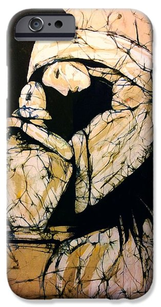 Cemetary Tapestries - Textiles iPhone Cases - Mourning Angel iPhone Case by Kay Shaffer