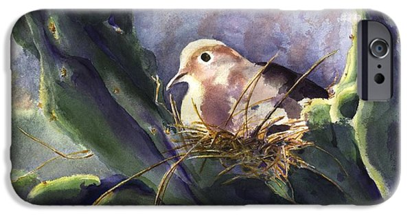 Young Paintings iPhone Cases -  Devotion is Natural iPhone Case by Maria Hunt