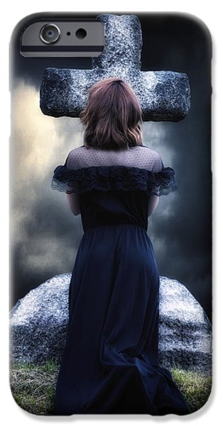 Creepy iPhone Cases - Mourning iPhone Case by Joana Kruse