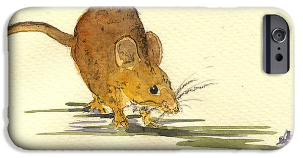 Mouse iPhone Cases - Mouse iPhone Case by Juan  Bosco