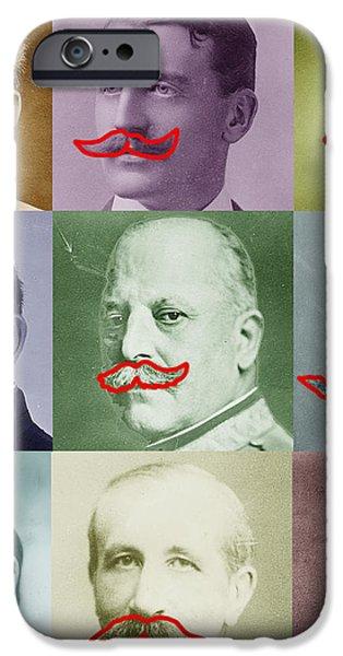 Moustaches iPhone Case by Tony Rubino