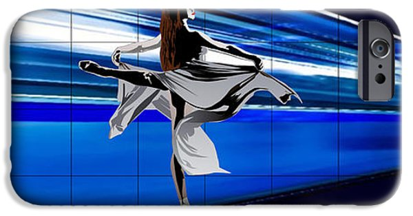 Ballet Dancers iPhone Cases - Mouvement Dance iPhone Case by Roby Marelly
