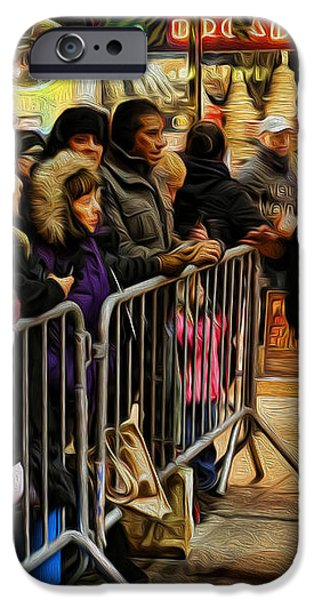 Movie Stars - The Artist Signing Autographs iPhone Case by Lee Dos Santos