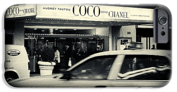 Acting iPhone Cases - Movie Theatre Paris in New York City iPhone Case by Sabine Jacobs