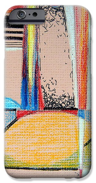 Colored Pencil Abstract iPhone Cases - Moving On iPhone Case by Mindy Newman