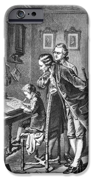 First Family iPhone Cases - Mozarts First Composition, 1801 iPhone Case by Bildagentur-online