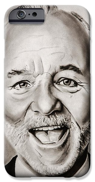 The Kingpins iPhone Cases - Mr Bill Murray iPhone Case by Brian Broadway