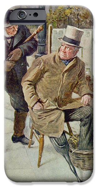 Retired iPhone Cases - Mr Boffin And Silas Wegg, Illustration For Character Sketches From Dickens Compiled By B.w. Matz iPhone Case by Harold Copping