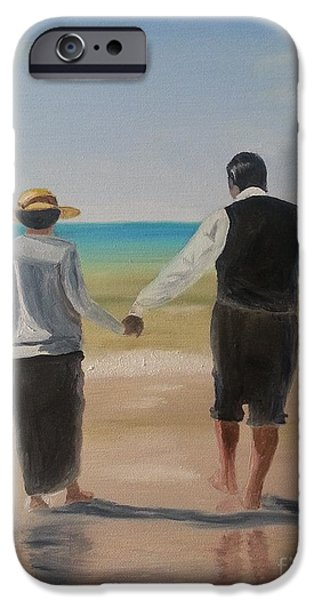 Seacapes iPhone Cases - Mr. Carson and Mrs. Hughes iPhone Case by Bev Conover
