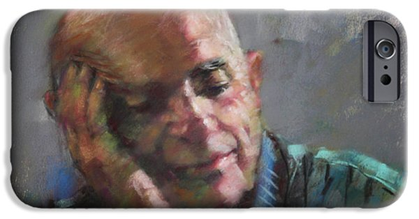 Old Man iPhone Cases - Mr Cela iPhone Case by Ylli Haruni