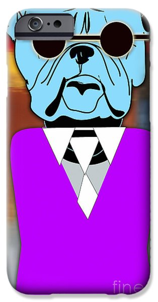 Puppies iPhone Cases - Mr Cool Bulldog iPhone Case by Marvin Blaine