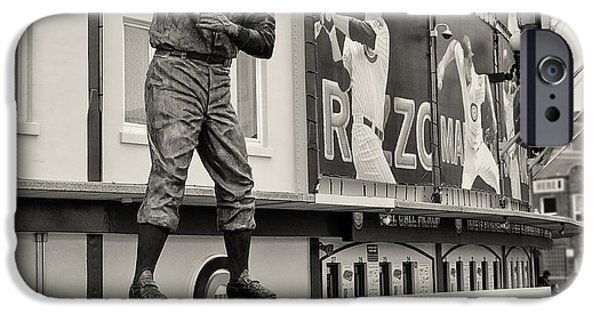 Wrigley Field iPhone Cases - Mr. Cub Ernie Banks Statue iPhone Case by John Ullrick