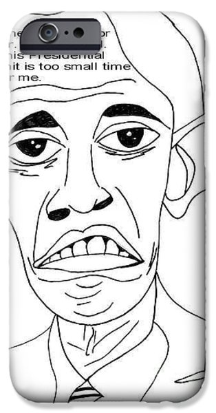 President Obama Drawings iPhone Cases - Mr. International iPhone Case by Donna Daugherty