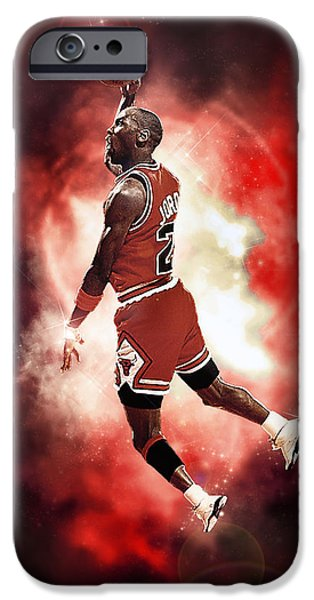 Dunk iPhone Cases - Mr. Michael Jeffrey Jordan aka Air Jordan MJ iPhone Case by Nicholas  Grunas