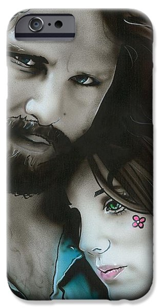 'Mr Mojo Risin and Pam' iPhone Case by Christian Chapman Art