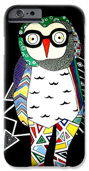 Amy Sorrell iPhone Cases - Mr. Owl iPhone Case by Amy Sorrell