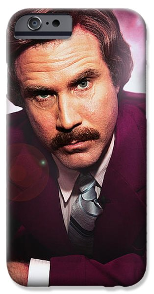 Mr. Ron Mr. Ron Burgundy from Anchorman iPhone Case by Nicholas  Grunas
