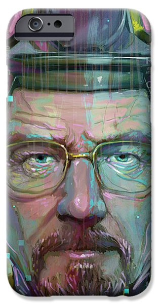 Pop Digital Art iPhone Cases - Mr. White iPhone Case by Jeremy Scott