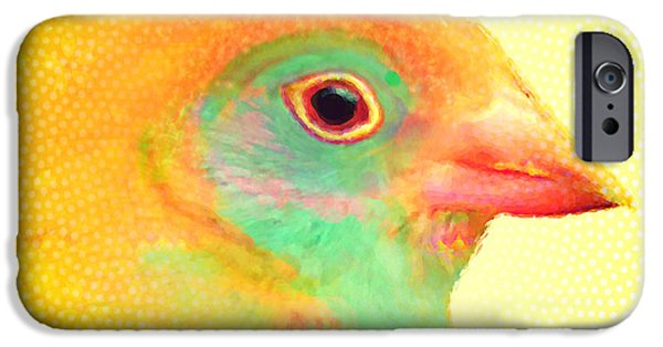 Baby Bird Mixed Media iPhone Cases - Mrs. Calm iPhone Case by Moon Stumpp
