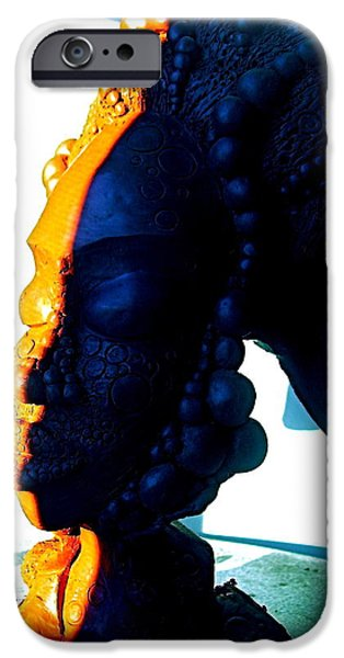 Meditation Sculptures iPhone Cases - Ms.Blue 2 iPhone Case by Donna Lee Bolden Kerr