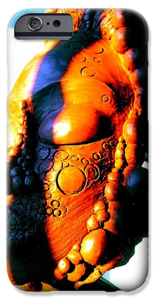 Meditation Sculptures iPhone Cases - Ms.Blue iPhone Case by Donna Lee Bolden Kerr