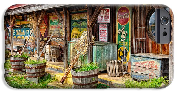 Mt Airy North Carolina iPhone Cases - Mt. Airy Old Country Store I iPhone Case by Dan Carmichael