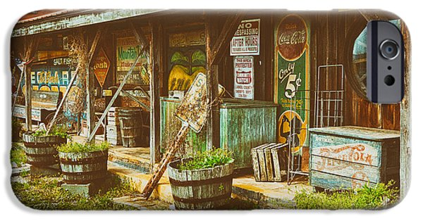 Mt Airy North Carolina iPhone Cases - Mt. Airy Old Country Store II iPhone Case by Dan Carmichael