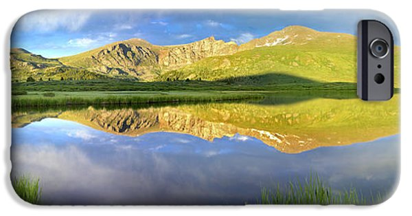Recently Sold -  - Animals Photographs iPhone Cases - Mt Bierstadt From Guanella Pass Colorado iPhone Case by Tim Fitzharris