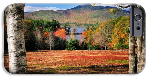 Meadow Photographs iPhone Cases - Mt Chocorua - A New Hampshire scenic iPhone Case by Thomas Schoeller