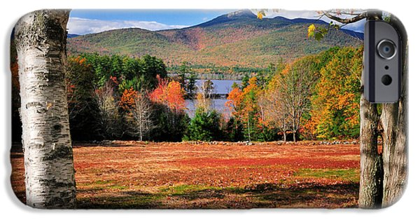 Fall Foliage iPhone Cases - Mt Chocorua - A New Hampshire scenic iPhone Case by Thomas Schoeller