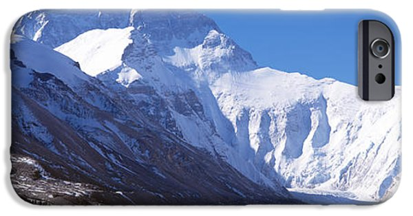 Snowy Day iPhone Cases - Mt Everest, Nepal iPhone Case by Panoramic Images