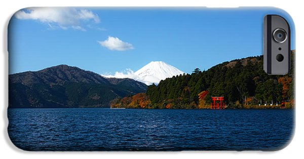 Japan Town iPhone Cases - Mt. Fuji on a Clear Day iPhone Case by Brady Barrineau
