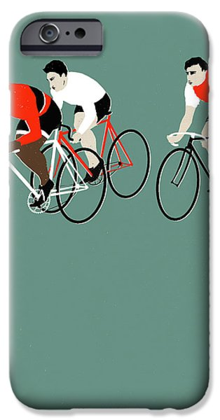 Printmaking Drawings iPhone Cases - MT Green iPhone Case by Eliza Southwood