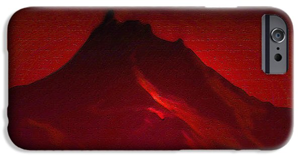 Abstract Forms iPhone Cases - Mt Hood At Sunset iPhone Case by Svetlana Nilova