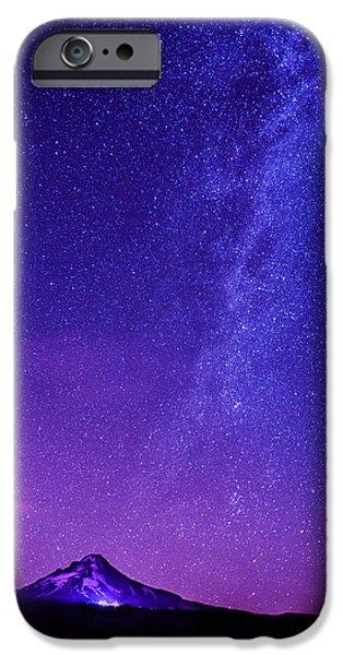 Mt. Hood Milky Way 01 iPhone Case by Lori Grimmett