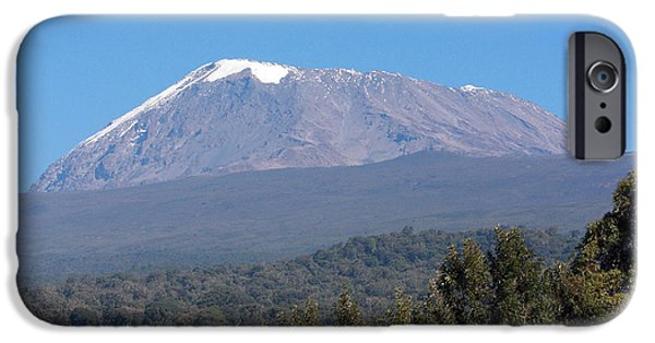 Nature Scene iPhone Cases - Mt Kilimanjaro  iPhone Case by Aidan Moran