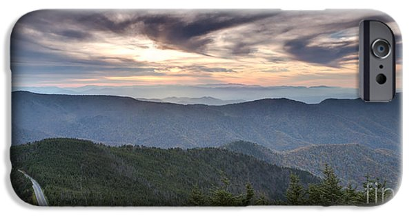 Blue Ridge Parkway iPhone Cases - Mt Mitchell Sunset Blue Ridge Parkway iPhone Case by Dustin K Ryan