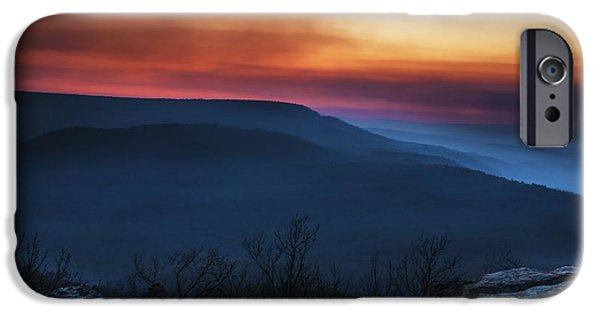 Arkansas iPhone Cases - Mt Nebo Arkansas St Sunset iPhone Case by Tim Hayes