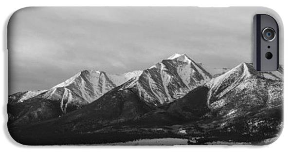 Arkansas iPhone Cases - Mt. Princeton Black and White iPhone Case by Aaron Spong