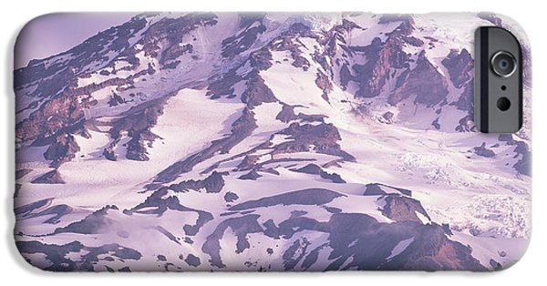 Rainy Day iPhone Cases - Mt Rainier Washington iPhone Case by Tim Fitzharris