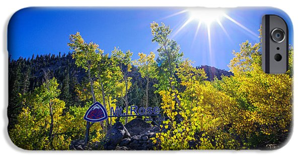 Mount Rose iPhone Cases - Mt. Rose Fall Color Sunburst iPhone Case by Scott McGuire
